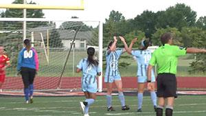 Leah Celarek Celebrates Her goal